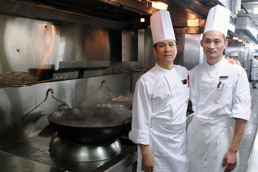 Guest Chefs Chow Shing Yip and Liu Wai Hung from JW Marriott Hotel Hong Kong
