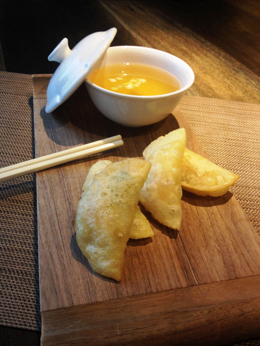 Crispy Shrimp Dumpling with Supreme Soup