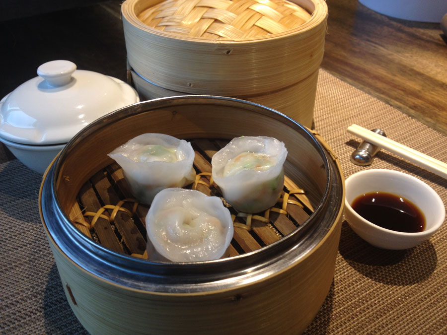 Steamed Scallop with Fungus & Vegetable Dumplings